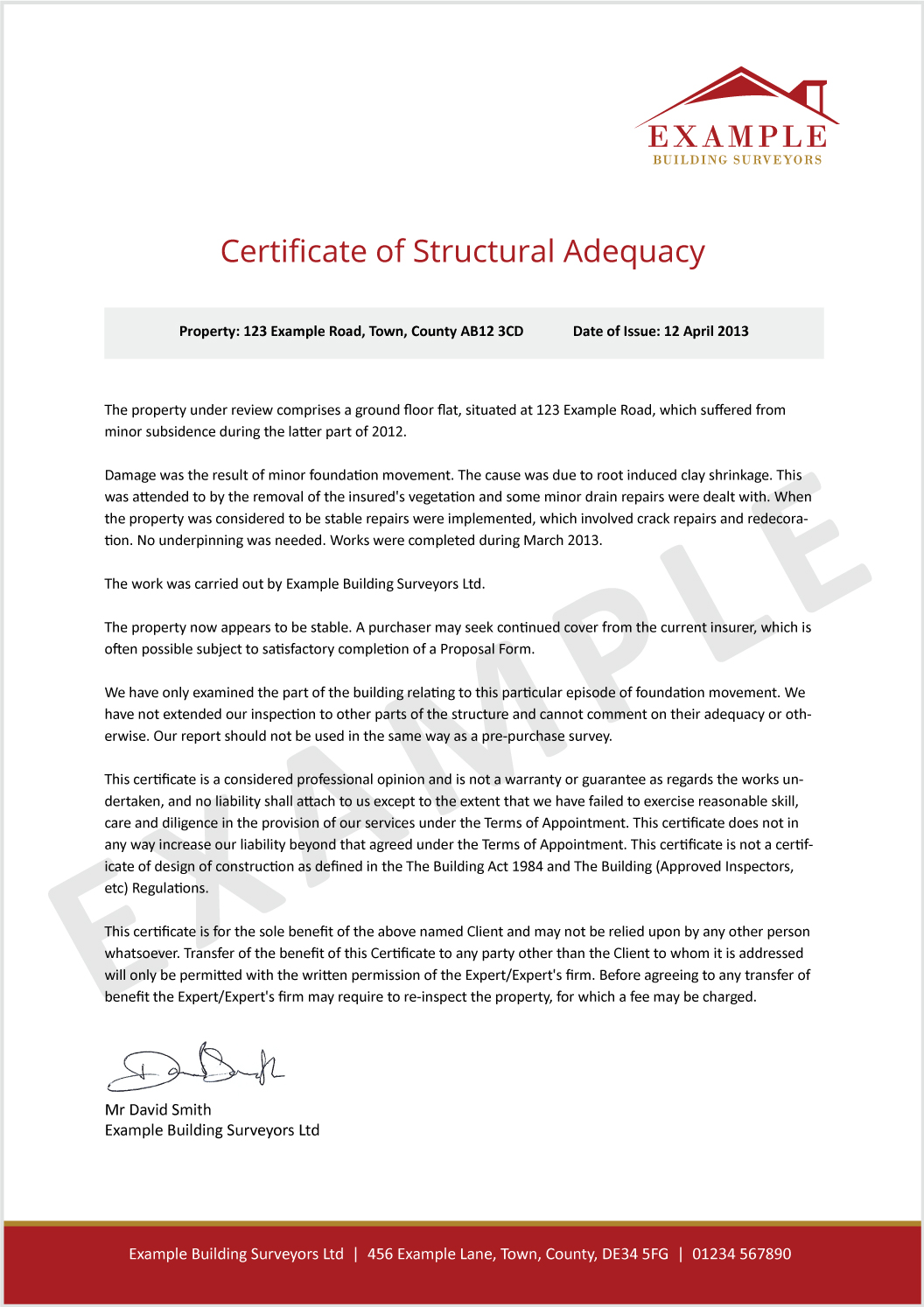 What is a Certificate of Structural Adequacy Intelligent Insurance